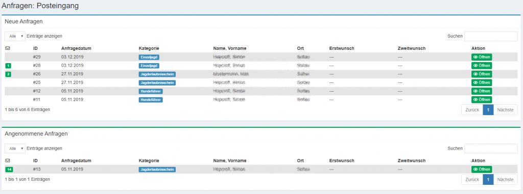 screenshoot jagdportal ems