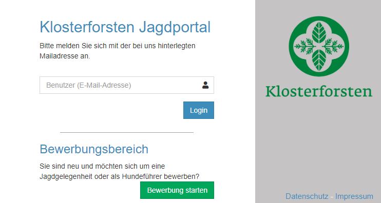 jagdportal klosterforsten - software von hctec